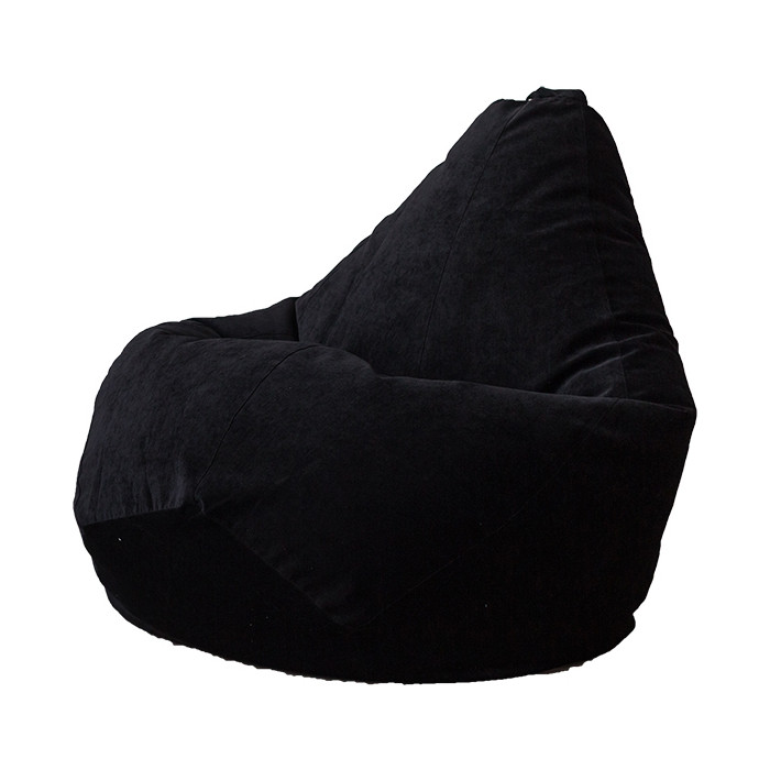 Кресло-мешок DreamBag Черный микровельвет 3XL 150x110