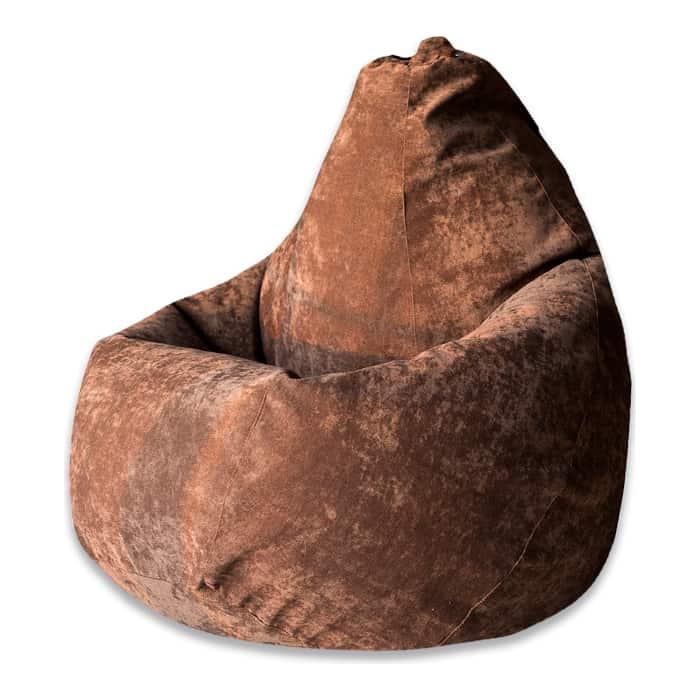 Кресло-мешок DreamBag Коричневый микровельвет 3XL 150x110