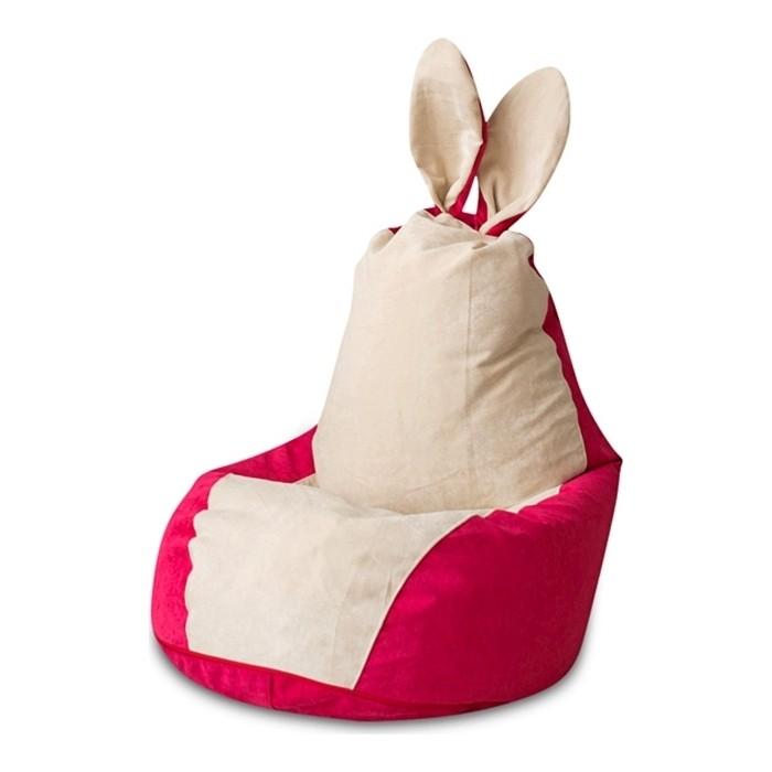 Кресло-мешок DreamBag Зайчик крем-малина