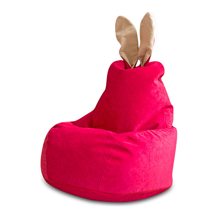 Кресло DreamBag Зайчик малиновое