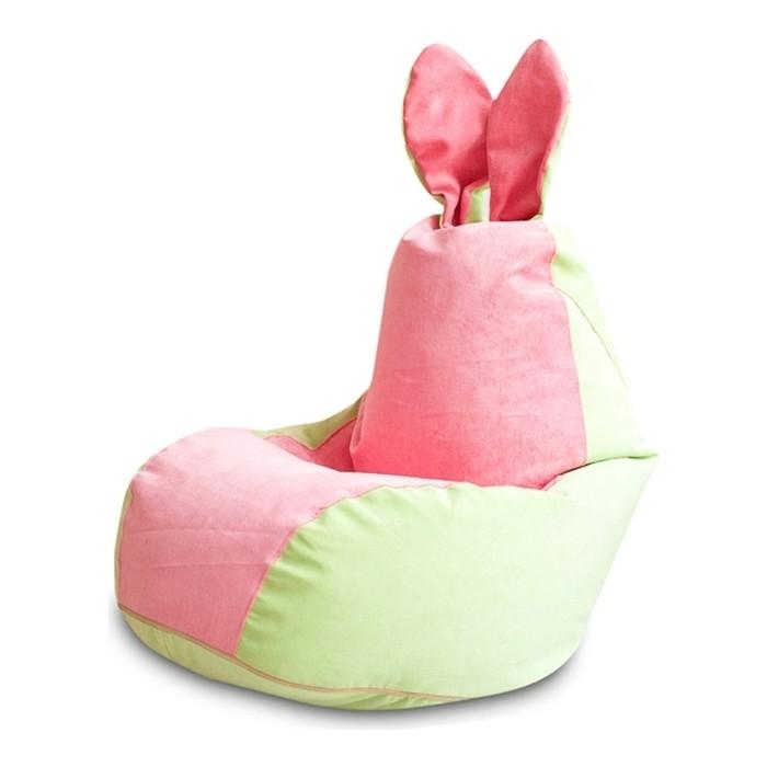 Кресло DreamBag Зайчик салатово-розовый