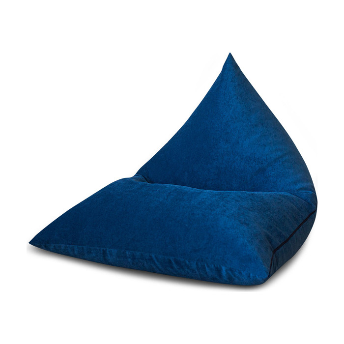 Кресло DreamBag Пирамида синий микровельвет