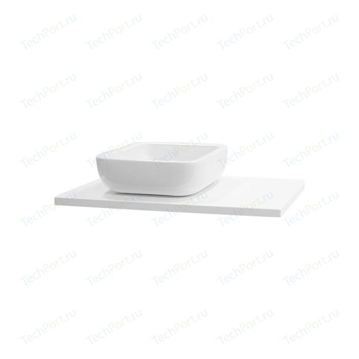 Столешница Акватон Брук 100 (60+40) отверстие под раковину смещено, белый (1A204405BC010)