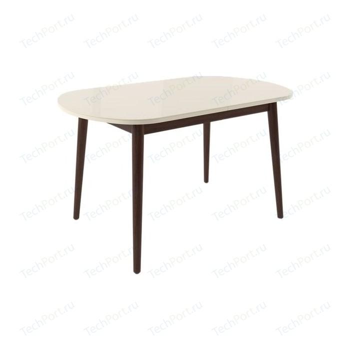 Стол раздвижной Leset Акра 2Р венге/стекло кремовое