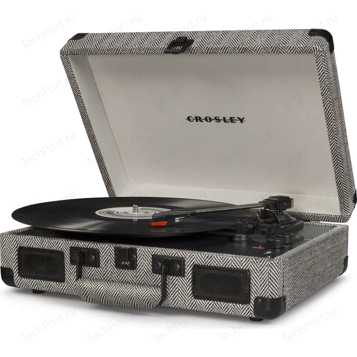 Виниловый проигрыватель CROSLEY CRUISER DELUXE [CR8005D-HB] herringbone c Bluetooth