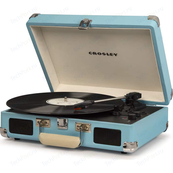 Виниловый проигрыватель CROSLEY CRUISER DELUXE [CR8005D-TU] turquoise c Bluetooth