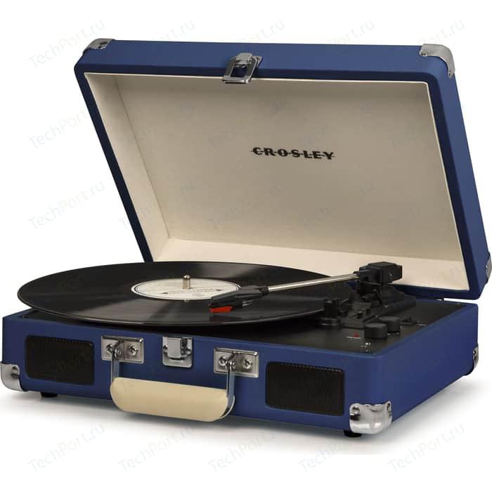 Виниловый проигрыватель CROSLEY CRUISER DELUXE [CR8005D-BL] blue c Bluetooth портативный виниловый проигрыватель crosley cruiser deluxe зелёный