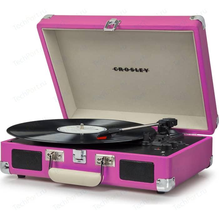 Виниловый проигрыватель CROSLEY CRUISER DELUXE [CR8005D-PI] pink c Bluetooth портативный виниловый проигрыватель crosley cruiser deluxe зелёный