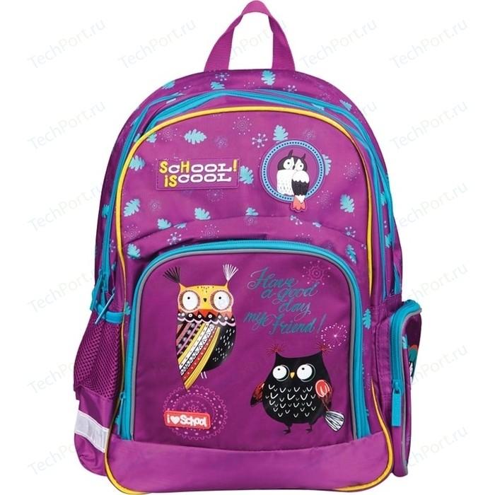 Фото - Рюкзак BERLINGO Light Nice owls 2 отделения, 3 кармана, эргономичная спинка школьные рюкзаки berlingo рюкзак nice paris