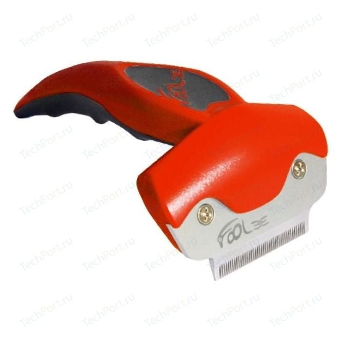 Щётка-триммер FoOLee One Small 4,5см красный для кроликов, кошек и собак мелких пород