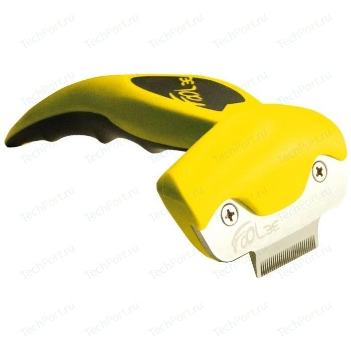 Щётка-триммер FoOLee One XS 3,1см желтый для кроликов, кошек и собак карликовых пород