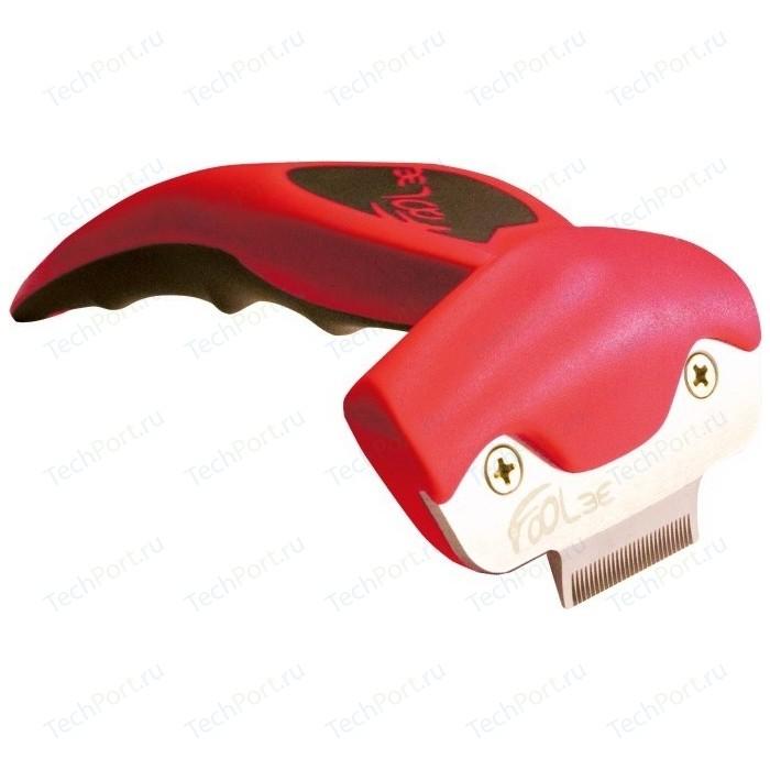 Щётка-триммер FoOLee One XS 3,1см красный для кроликов, кошек и собак карликовых пород