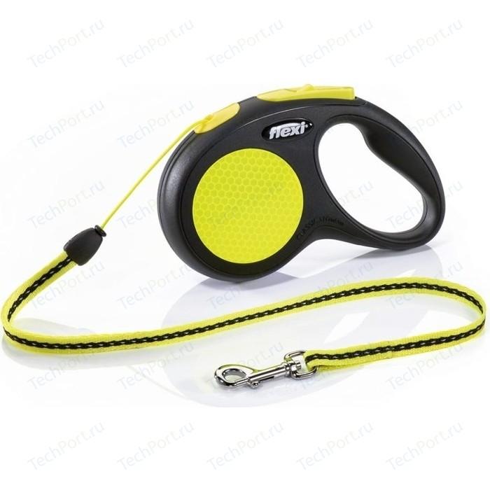 Рулетка Flexi New Neon XS лента 3м для собак до 12кг