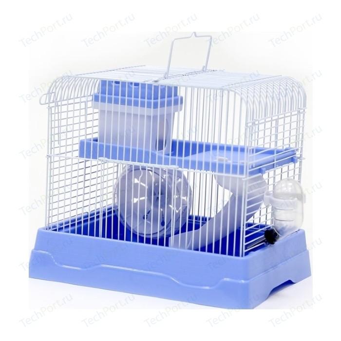 Клетка N1 30х23х25,7см прямоугольная, укомплектованная, голубая для хомяков (ДКг187гол)