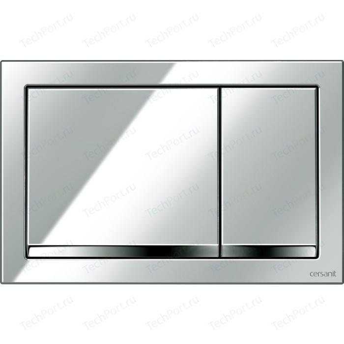 Кнопка смыва Cersanit Enter пластик, хром глянцевый (P-BU-ENT/Cg)
