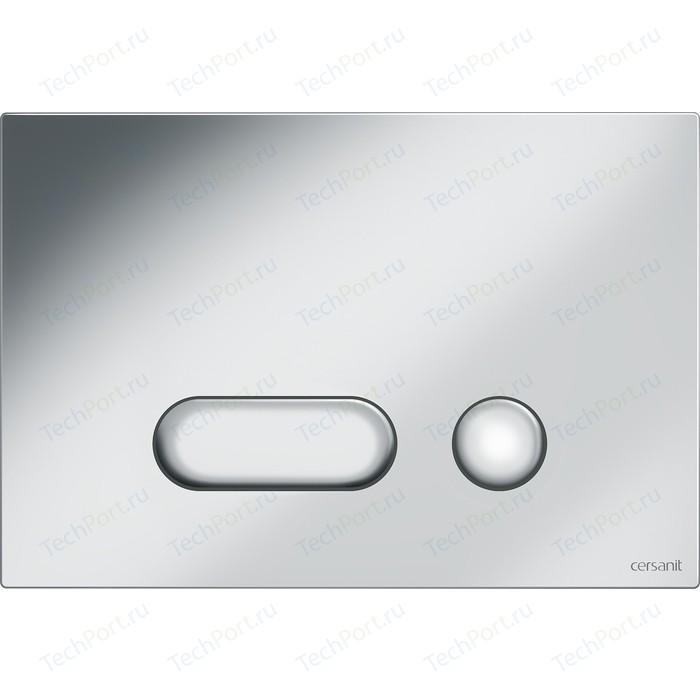 Кнопка смыва Cersanit Intera пластик, хром матовый (P-BU-INT/Cm)