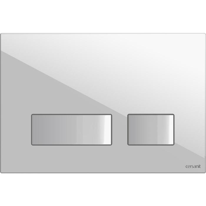 Кнопка смыва Cersanit Movi пластик, белый (P-BU-MOV/Wh)