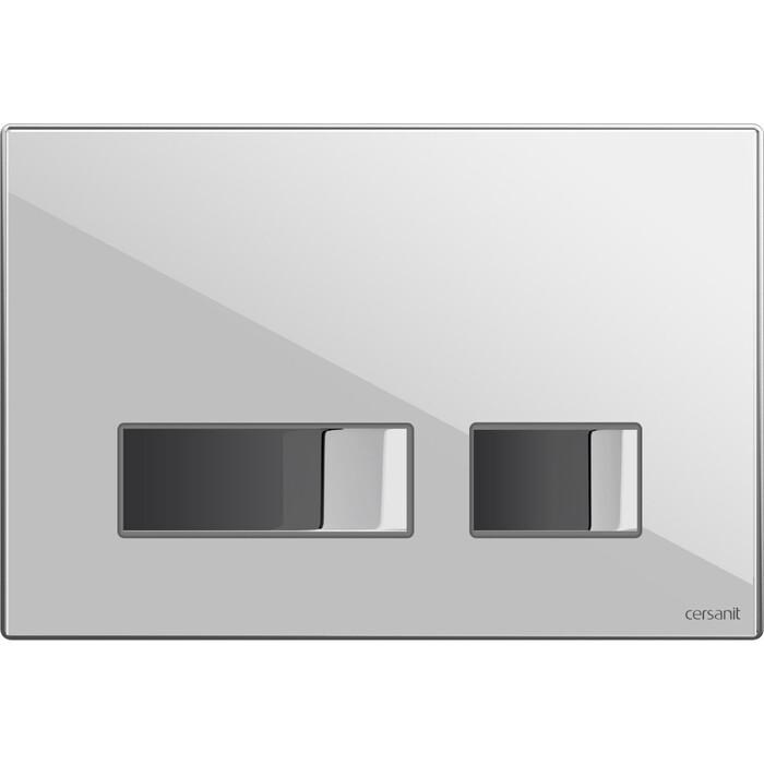 Кнопка смыва Cersanit Movi стекло\пластик, белый, с монтажной рамкой (P-BU-MOV/Whg/Gl)