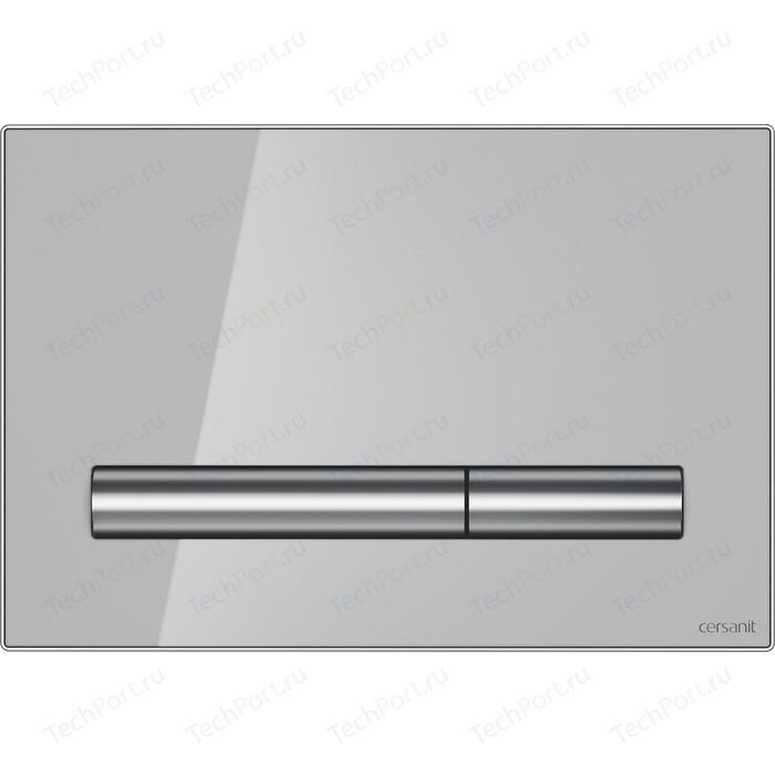 Кнопка смыва Cersanit Pilot стекло\пластик, серый (P-BU-PIL/Grg/Gl)
