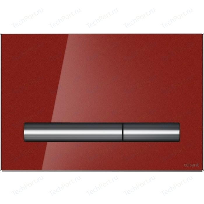 Кнопка смыва Cersanit Pilot стекло\пластик, красный (P-BU-PIL/Rdg/Gl)