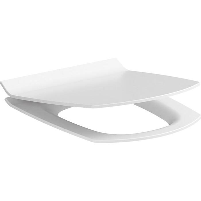 Сиденье с микролифтом Cersanit Carina slim, дюропласт, lifting, easy-off, белый (S-DS-CARINA-S-DL-m/S-DS-CARINA-S-DL-t)