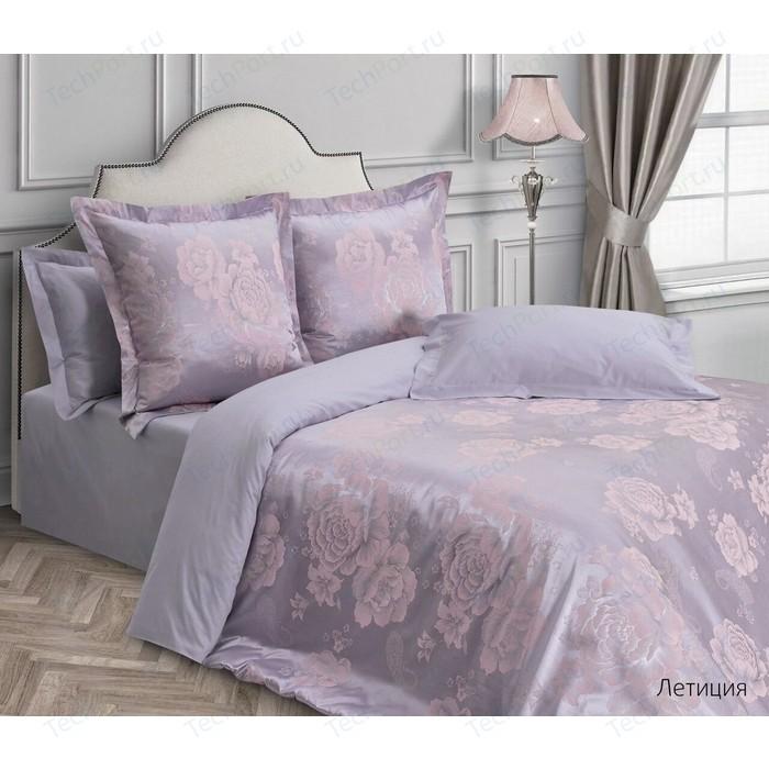 цена Комплект постельного белья Ecotex евро, сатин-жаккард Эстетика Летиция (4650074956961) онлайн в 2017 году