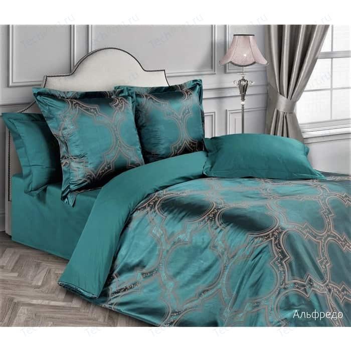 цена Комплект постельного белья Ecotex евро, сатин-жаккард Эстетика Альфредо (4650074957166) онлайн в 2017 году