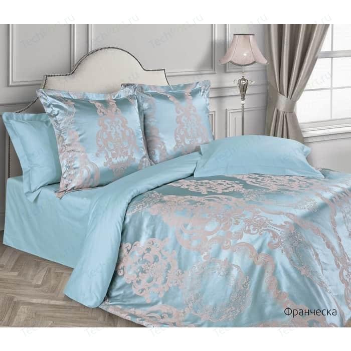 цена Комплект постельного белья Ecotex евро, сатин-жаккард Эстетика Франческа (4660054341229) онлайн в 2017 году