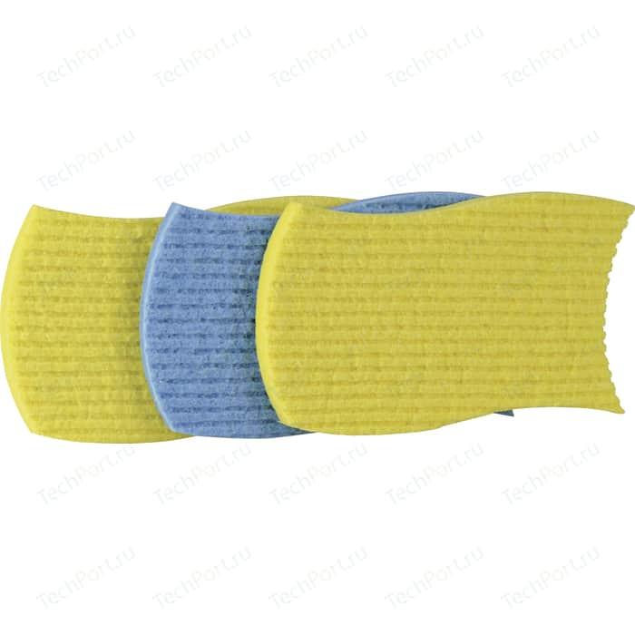 Тряпка VILEDA губчатая 3 шт, желтая+голубая