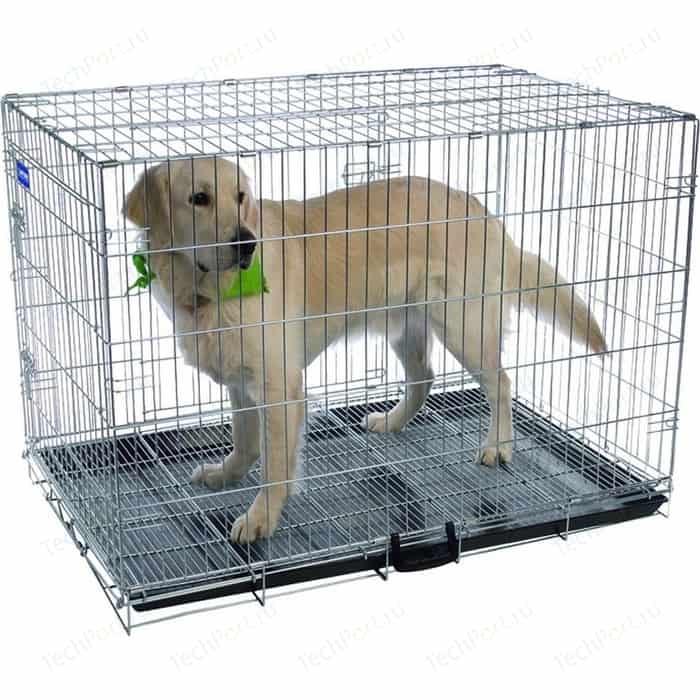Клетка ARTERO №5 металлическая с фальшдном 109х70х78см для собак