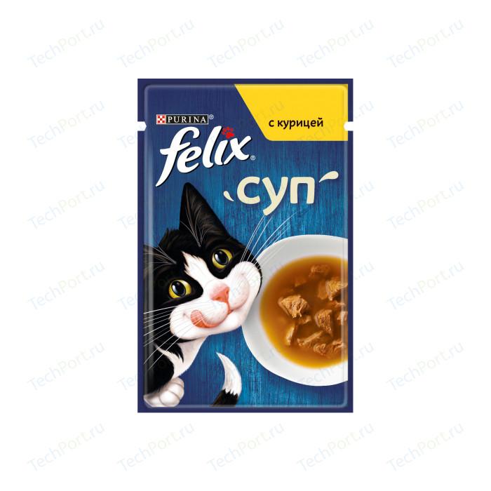 Паучи Felix Суп с курицей для кошек 48г (12378668)