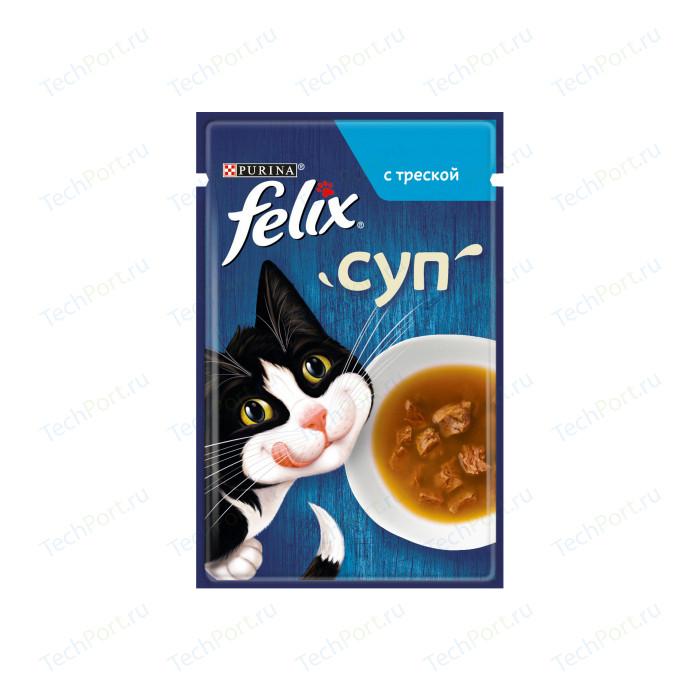 Паучи Felix Суп с треской для кошек 48г (12378671)
