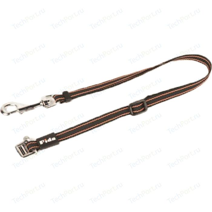 Сворка Fida на рулетку Dual leash с лентой оранжевая для второй собаки