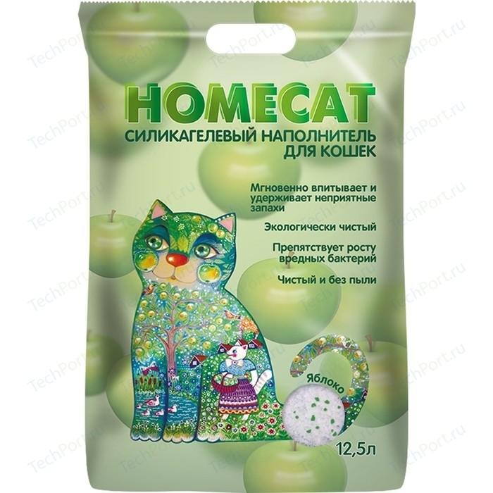 Наполнитель HomeCat Яблоко силикагелевый впитывающий с ароматом яблока для кошек 12,5л
