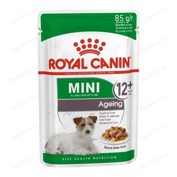 Пауч Royal Canin Mini Ageing 12+ Sause-Sobe кусочки в соусе собе для собак мелких пород старше 12лет 85г
