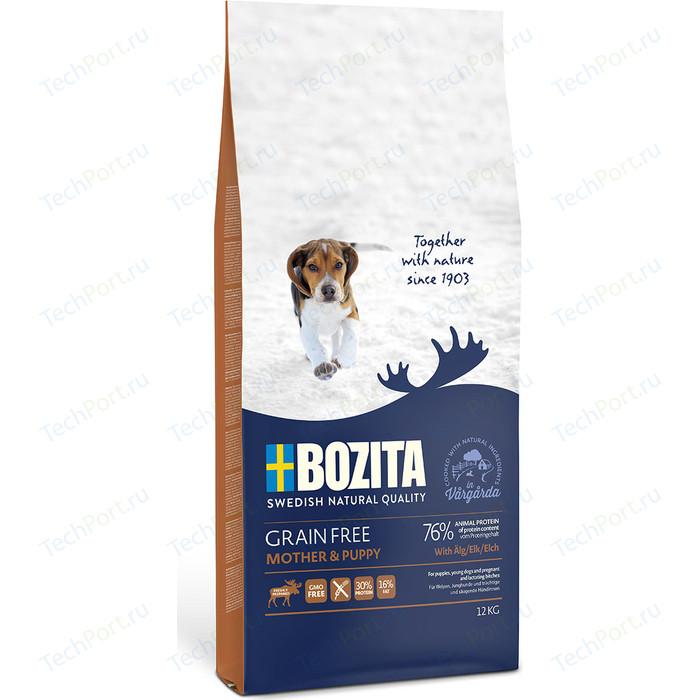 Сухой корм BOZITA Grain Free Mother & Puppy with Elk 30/16 беззерновой с мясом лося для щенков, беременных и кормящих сук всех пород 12кг (40442)