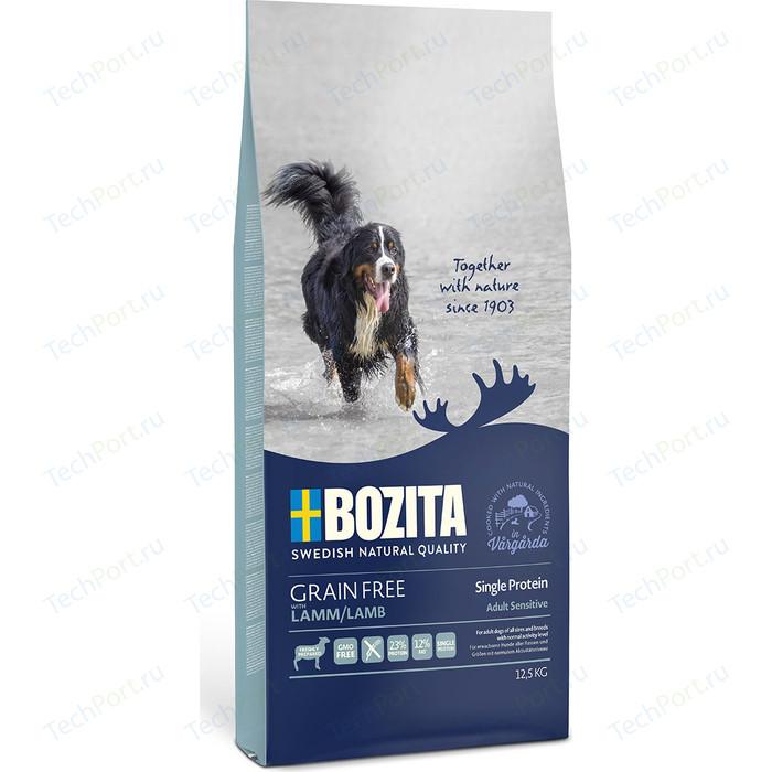 Сухой корм BOZITA Grain Free Adult Sensitive Single Protein with Lamb 23/12 беззерновой с ягненком для взрослых собак 12,5кг (40642)