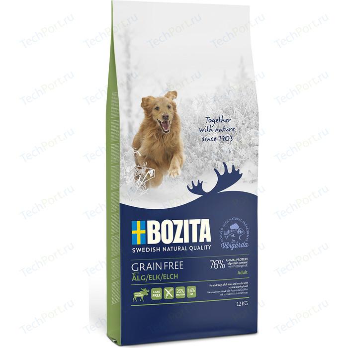 Сухой корм BOZITA Grain Free Adult with Elk 26/16 беззерновой с мясом лося для взрослых собак 12кг (40842)
