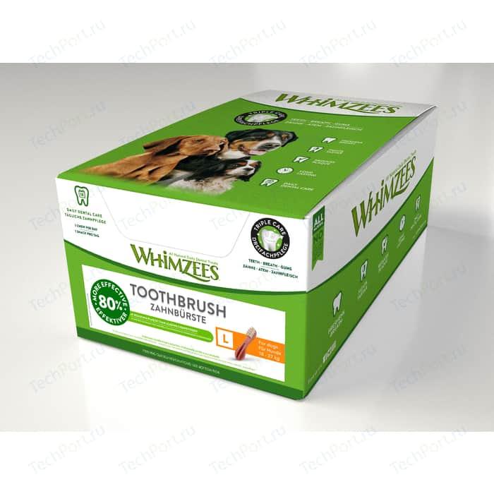 Лакомство Whimzees Toothbrush Star L Bulk In Display Box Зубная щетка для собак 15см 30шт в коробке (WHZ244ROW)