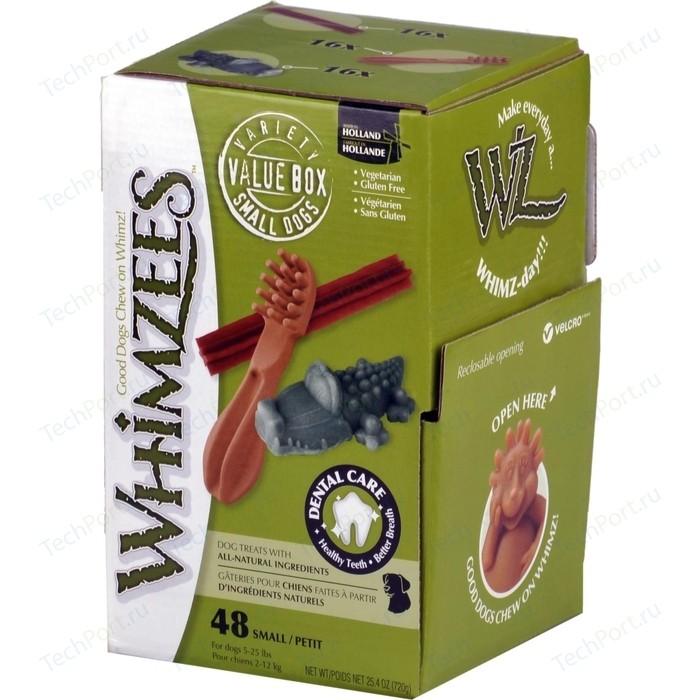 Лакомство Whimzees Variety Box S МИКС (палочки/ щетки/ крокодильчики) для собак 48шт в коробке (WHZ571)