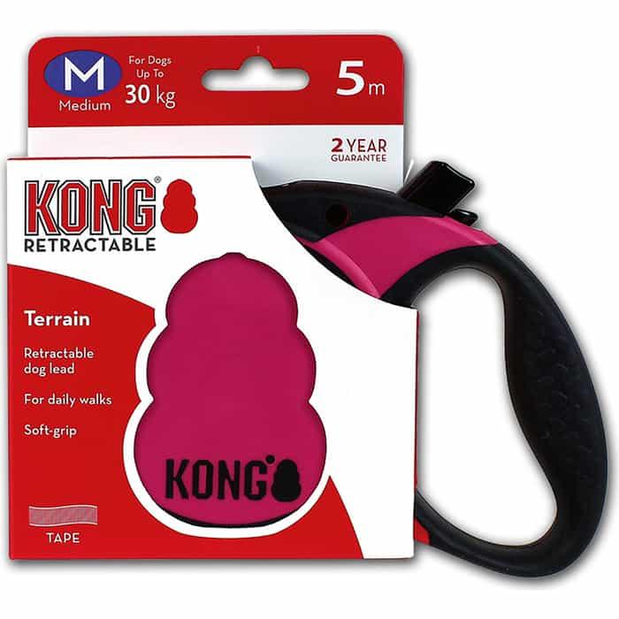 Рулетка KONG Terrain M лента 5м фуксия для собак до 30кг
