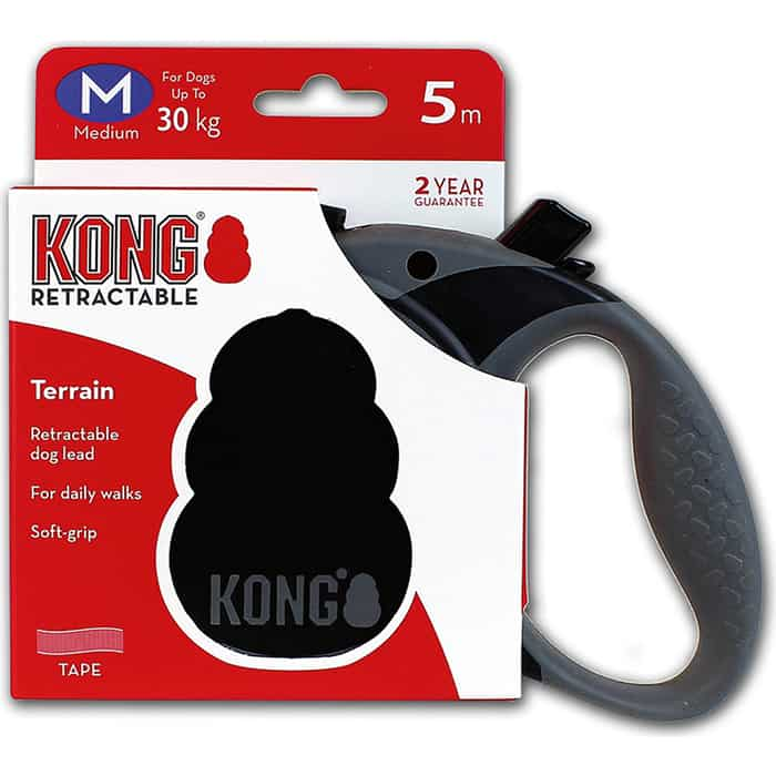 Рулетка KONG Terrain M лента 5м черная для собак до 30кг