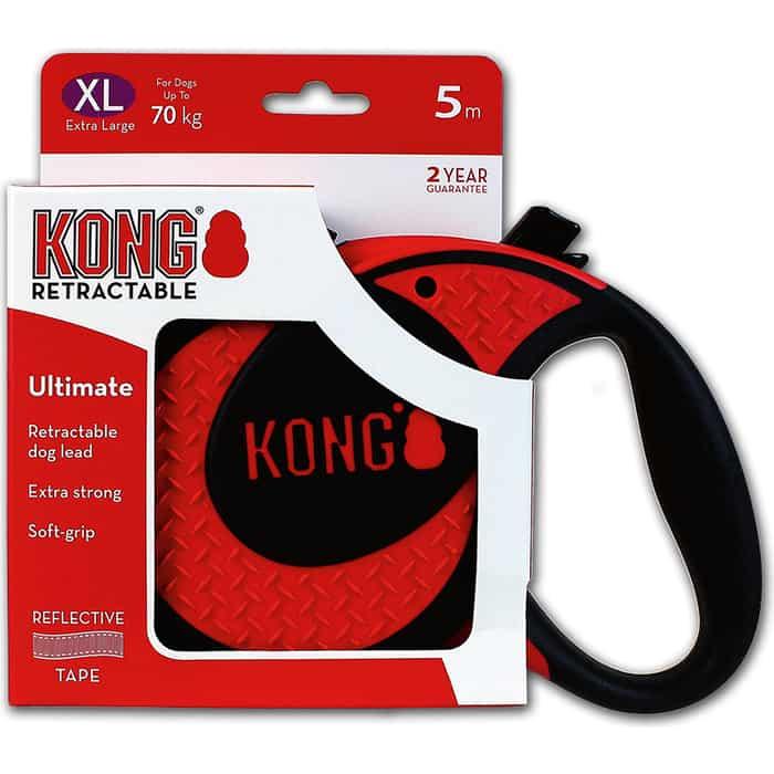 Рулетка KONG Ultimate XL лента 5м красная для собак до 70кг