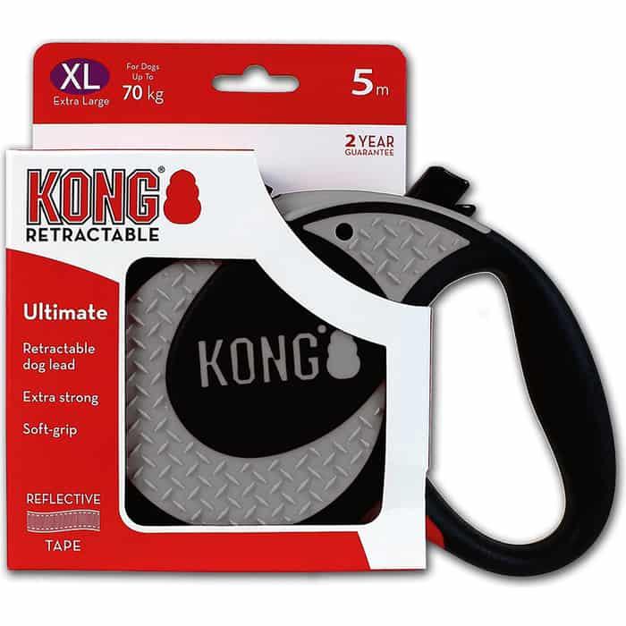Рулетка KONG Ultimate XL лента 5м серая для собак до 70кг
