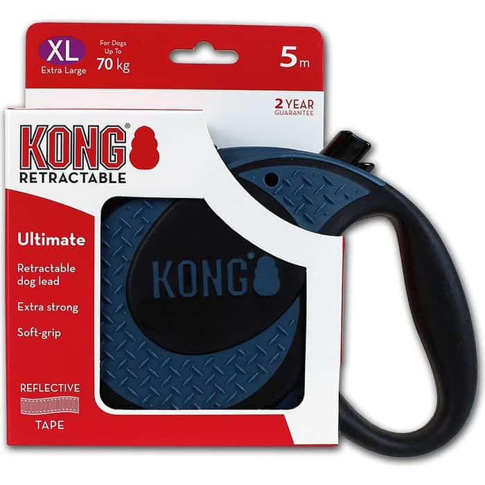 Рулетка KONG Ultimate XL лента 5м синяя для собак до 70кг