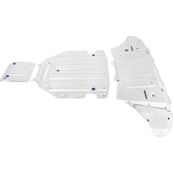 Защита картера, КПП и РК Rival для Audi Q8 (2019-н.в.), алюминий 4 мм, K333.0348.1