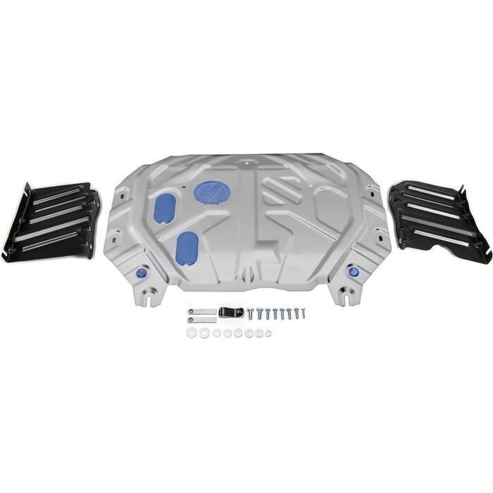 Защита картера и КПП Rival для Kia Soul II АКПП (2014-2019), алюминий 3 мм, 333.2845.1
