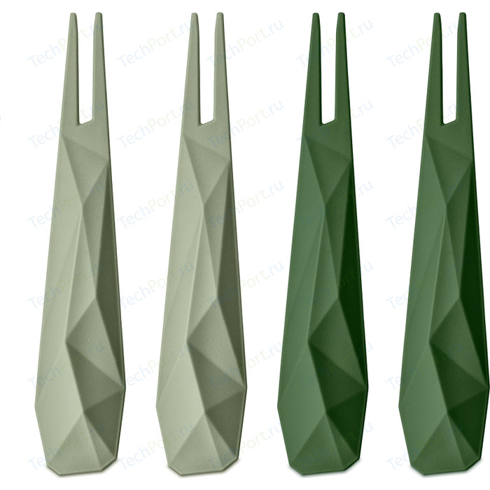 Набор из 4 шпажек зелёный Koziol Club (3133359)