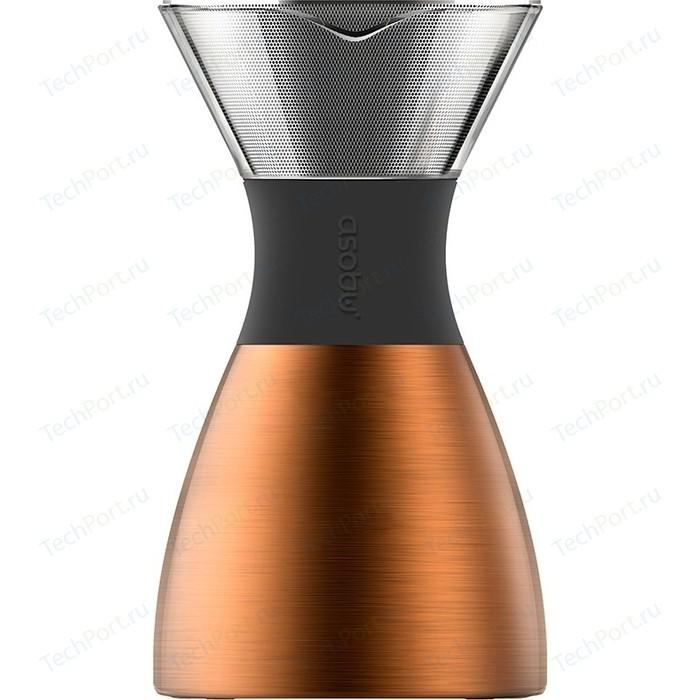 Кофеварка портативная 1 л медная Asobu Pour Over (PO300 Copper/Black) кофеварка портативная 1 л серебристая asobu cold brew kb900 silver black