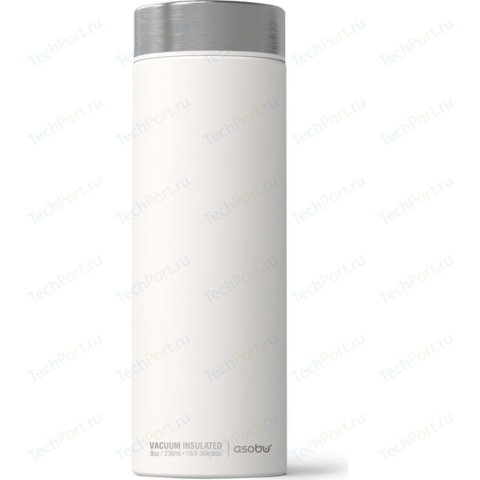 Термос 0,5 л белый/серебряный Asobu Le Baton Travel (LB17 WHITE/SILVER)